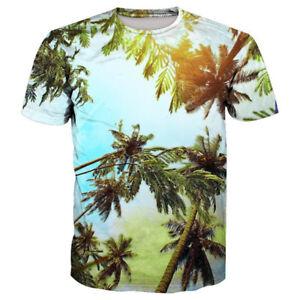 023c90ace Details about Women/Men Summer Coconut Tree 3D Print Casual T-Shirt Tops Tee  Short Sleeve 5XL