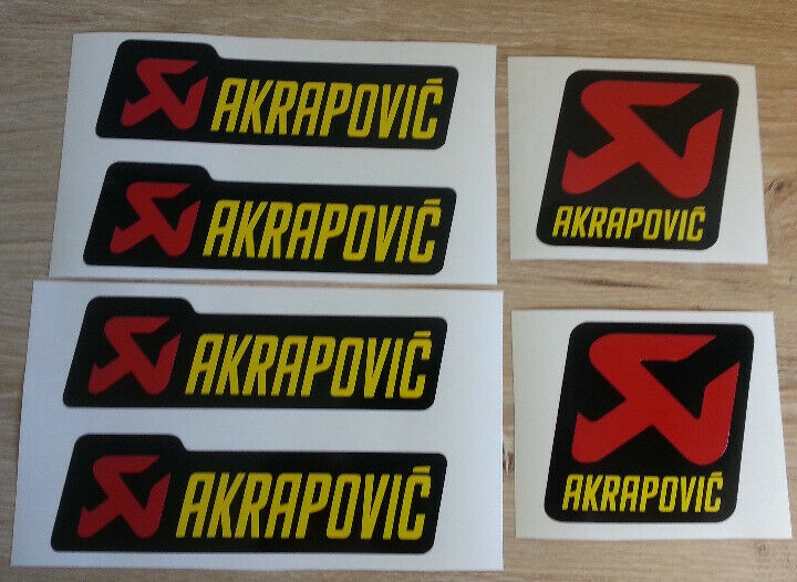 Akrapovic exhaust casing / fairing decals stickers graphics