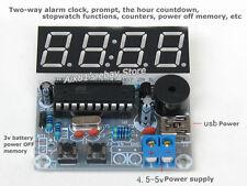 AT89C2051 3V-5V 4 Digit LED Electronic Clock Parts Digital Alarm Clock Kit DIY