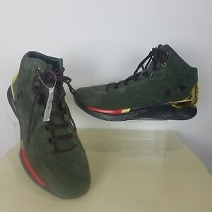 af590d6f4a18 Under Armour UA Curry 1 Lux Mid Suede 1296617-330 Sz 11.5 Mens ...