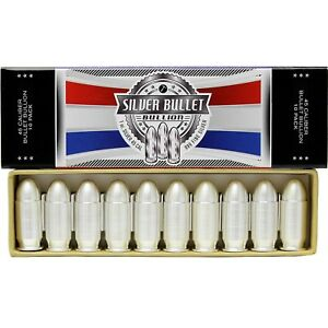 1oz-Silver-Bullet-45-Caliber-10-Pack-by-SilverTowne-Mint