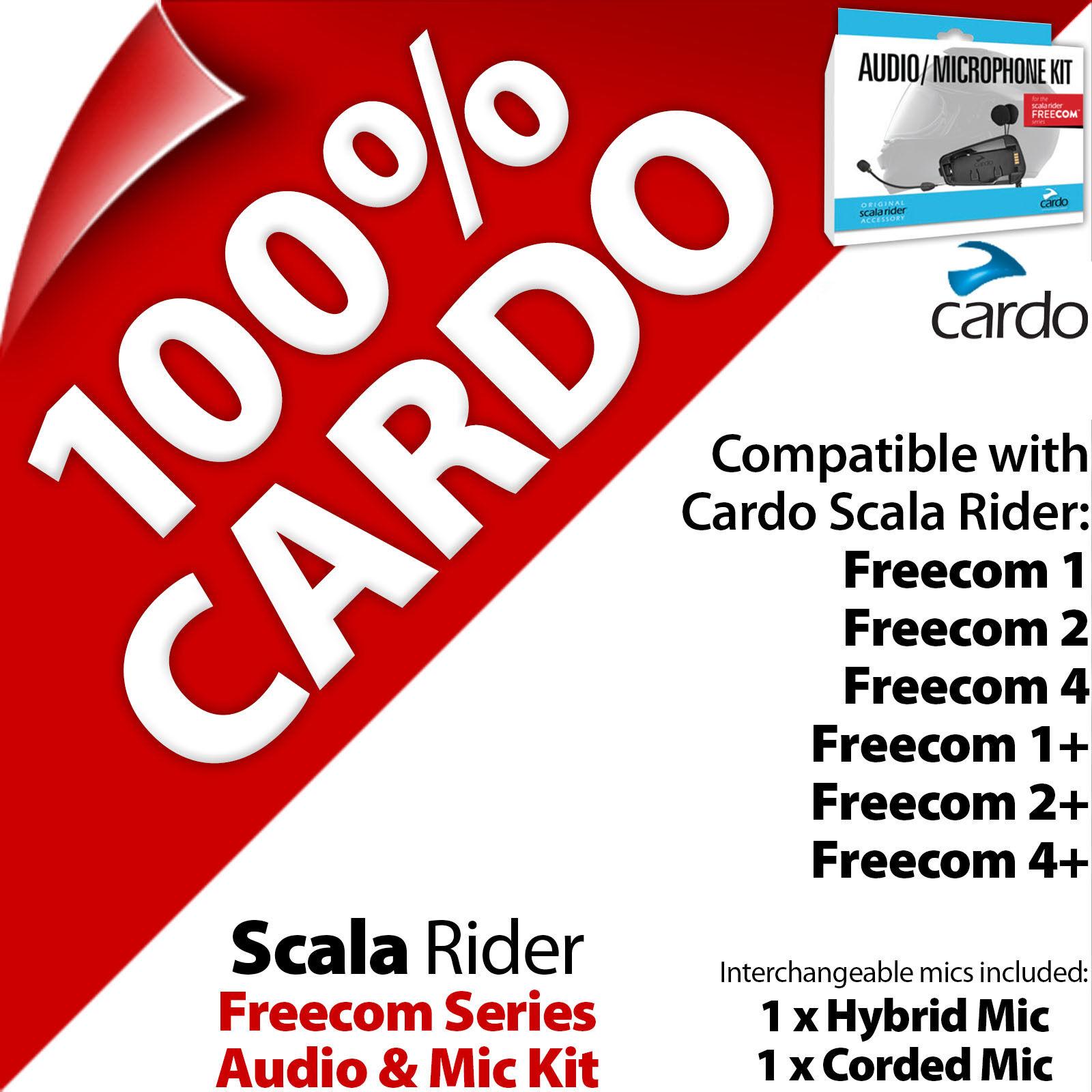 d837175f2da Cardo Scala Rider Audio & Mic Kit for Freecom 1 2 3 4 Helmet Intercom for  sale online | eBay
