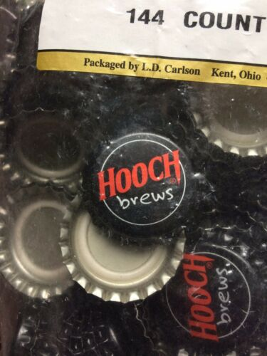 144 Count Hooch Brews Home Brew Crown Bottle Caps Beer Brewing Soda Kombucha