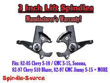 """82-05 Chevrolet S-10 S10 / GMC S-15 Sonoma Blazer Jimmy 3"""" 3 inch Lift Spindles"""