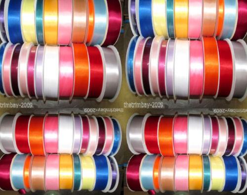 Calidad de doble cinta de raso todas las anchuras disponible
