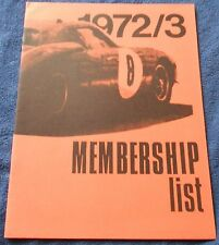 Ferrari Club of America USA Members Book 1972/3 Buch no brochure depliant press