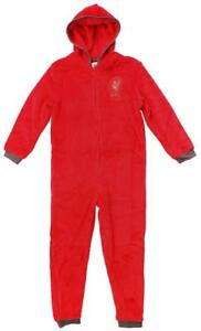 Boys Official Chelsea CFC Hooded Fleece Zipper Sleepsuit Romper Onesie Sizes from 3 to 12 Years