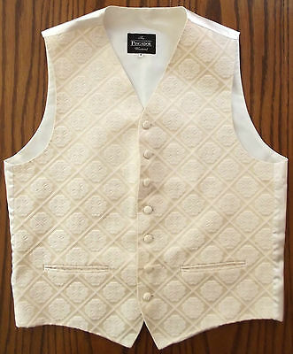 Mens waistcoat tuxedo vest Cotton mix GOLD 40 42 46 48 inch chest M L 2XL 3XL