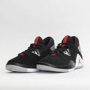 c94546197a99 Nike Jordan Flight Fresh PREM Men s Shoes Low Black Red Cement Grey ...