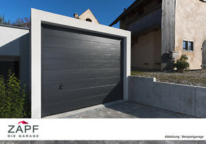 zapf fertiggarage aus beton mit sektionaltor in. Black Bedroom Furniture Sets. Home Design Ideas