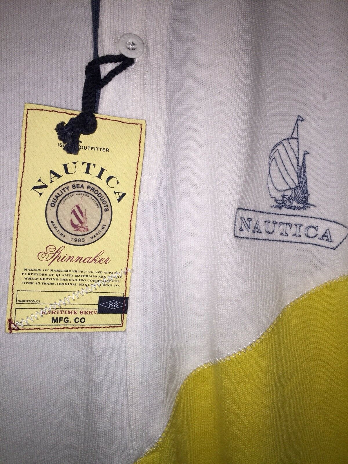 NAUTICA HERITAGE 100% LONG SLEEVE 100% HERITAGE COTTON POLO SHIRT SPINNAKER SLIM FIT Uomo'S XXL 03d2df