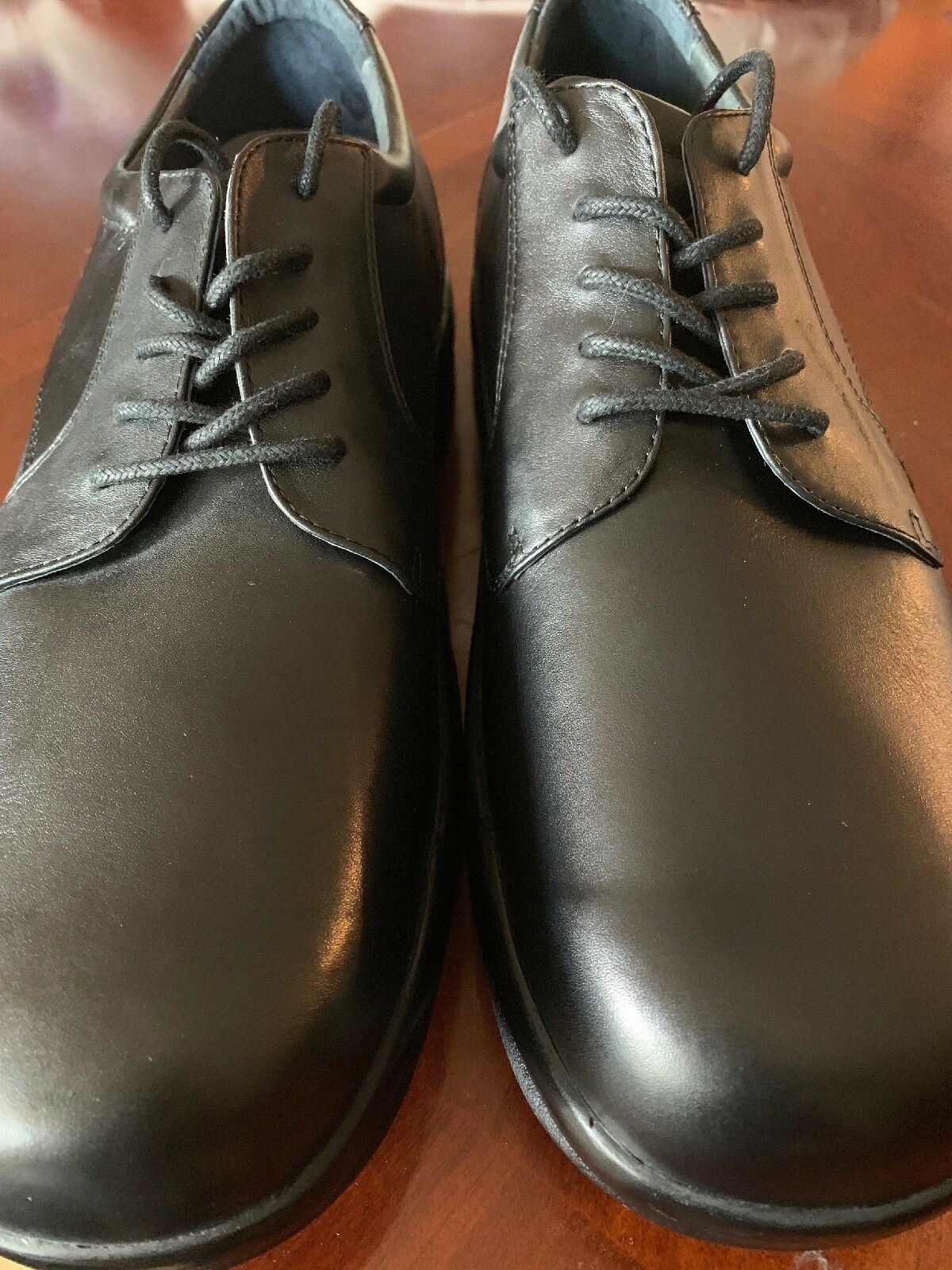 NEW Mens Apex Ambulator Classic Oxfords Size 13 Black Leather Diabetic Ortho