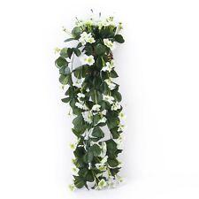 Hanging Artificial Violet Garland Flower Vine Wedding Cake Decoration White LW