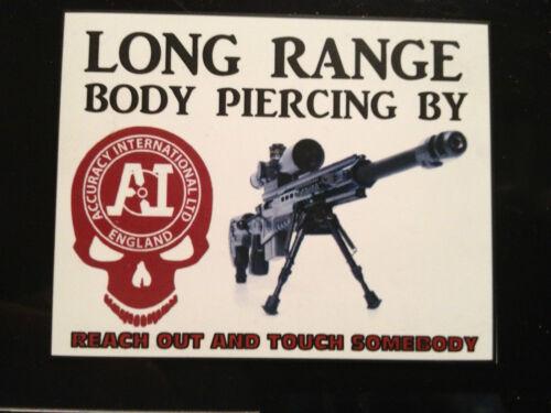 Précision international sniper fusil Nouveauté réfrigérateur aimant 80mm x 60mm armes