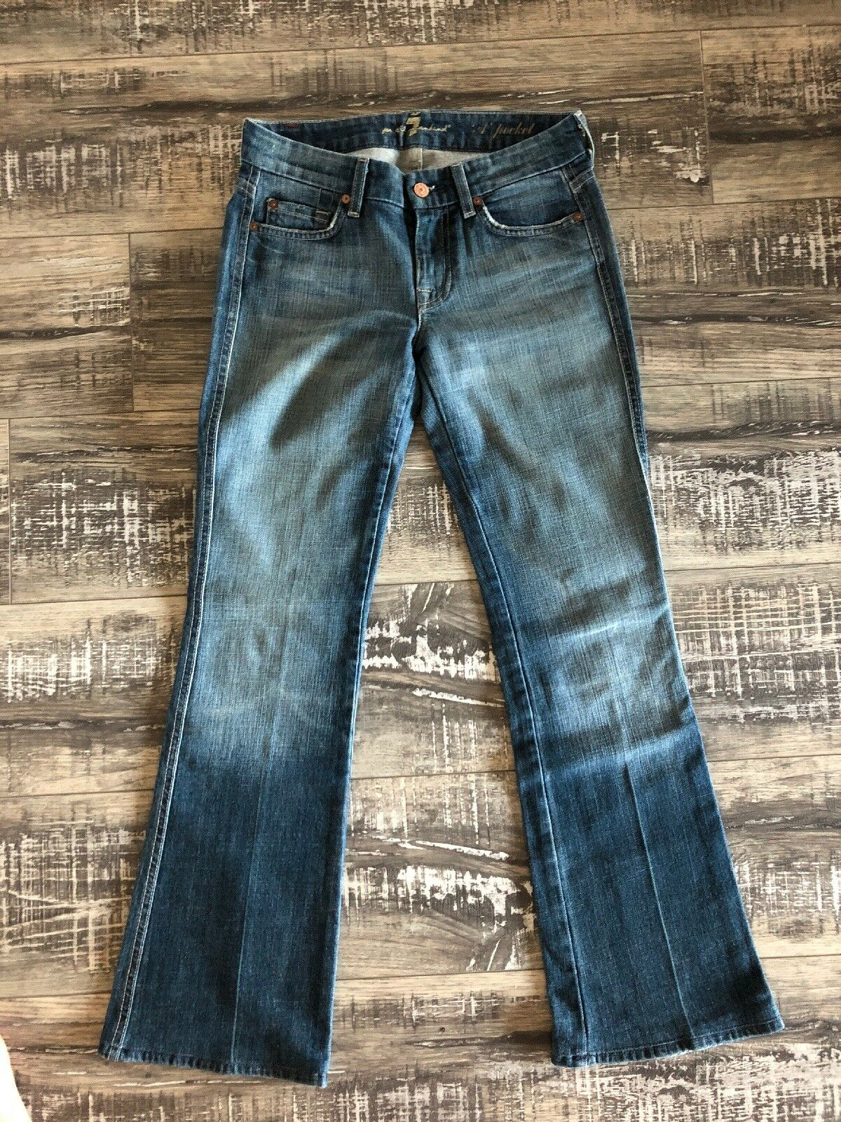 7 For All Mankid Flare Jean In Size 25