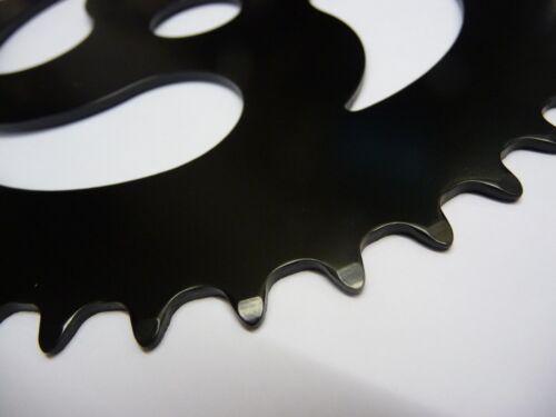 CHAINRING OLD SCHOOL BMX 44 TEETH 1//8 FOR ONE PIECE CRANK BLACK
