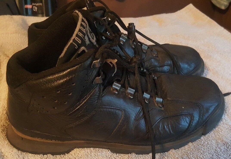 Nike air jordan ajb vi, 6, 2002, gli stivali di pelle nera, uomo numero 10