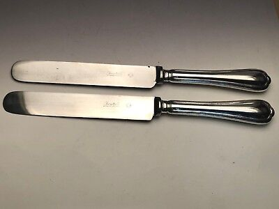 """Silverplate Spatours By Christofle Silverplate Pair Of Dinner Knives Blunt Blade 9 7/8"""" Antiques"""