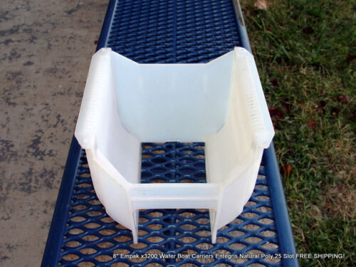 """8/"""" Empak x3200 Wafer Boat Carriers Entegris Natural Poly 25 Slot FREE SHIPPING!"""