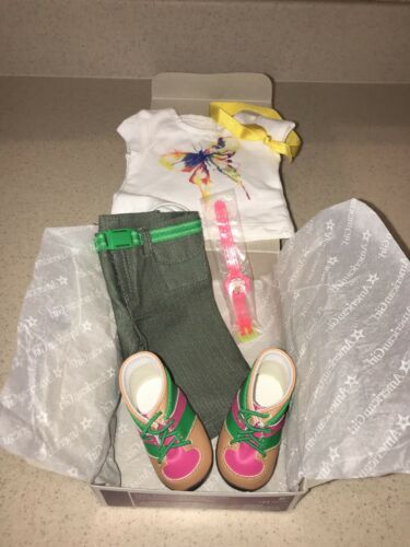 New American Girl of Year 2016 Lea Rain Forest Hiking Outfit NEW