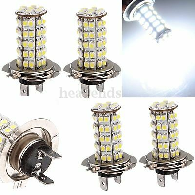 4x H7 68 SMD LED Xenon White Car 6000K Bulb HeadLight Driving Fog Daytime Lamps