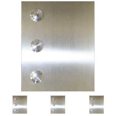 3-Fach Klingel Türklingel Edelstahl Chinatown 12x15cm Gravur LED Beleuchtung V2A