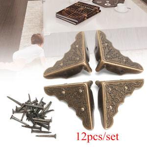 12Pcs-Retro-Coin-Protecteur-Metal-Pour-Livre-Album-Meuble-Protege