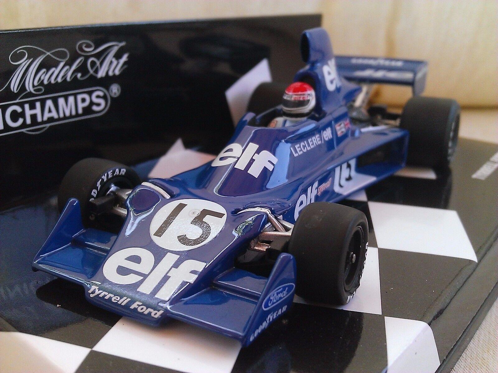 15 Tyrrell Ford 007 Michel Leclere 1975 modelo fundido F1 COCHE 1 43 MINICHAMPS