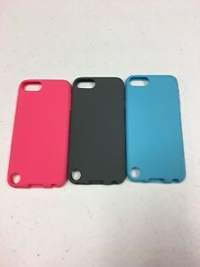 Apple-iPod-Touch-5th-6th-Generation-Silicon-Skin-Case-Cover-Pink-Gray-Light-Blue