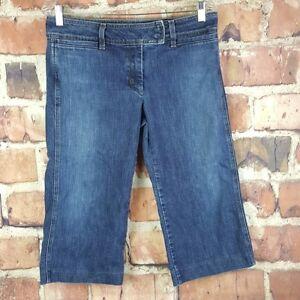 J-Crew-Womens-Cropped-Jeans-Size-8-Petite-Capri-Dark-Wash