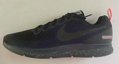 Nike Uomo Scarpe Blu Scuro Nero Air Zoom Pegasus 34 Scudo Sneaker Taglie 8.5 13 | eBay