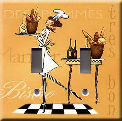 SASSY CHEF 4 DOUBLE LIGHT SWITCH PLATE COVER