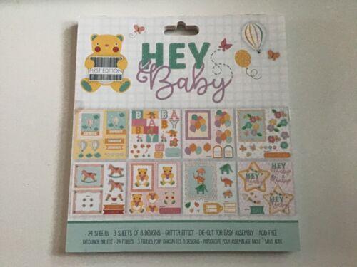 """Primera Edición Hey Baby 8/"""" X 8/"""" 24 Hojas Decoupage Pad Almohadilla Completo."""