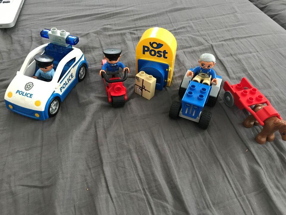 Lego Duplo og playmobil