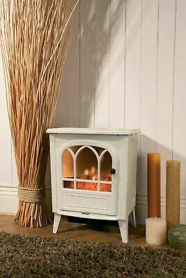White 1800W Electric Fireplace Heater