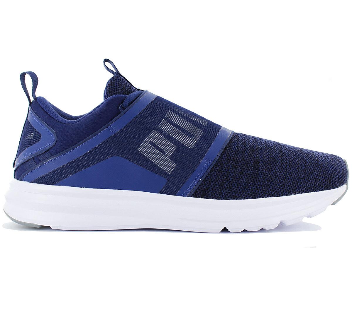 Puma enzo Strap Knit zapatos calcetines cortos azul zapatillas de deporte ocio 190029-03
