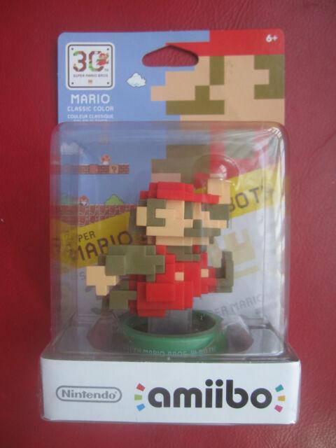 Super Mario Bros. 30th Anniversary 8-Bit Mario Modern Color Amiibo Figure WiiU