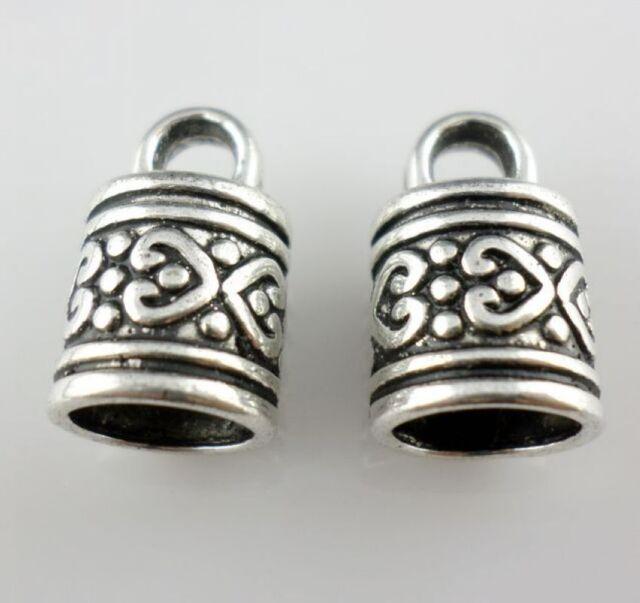 5/20/120pcs Antique Silver DIY Bracelet necklace End Caps Connectors (Lead-free)