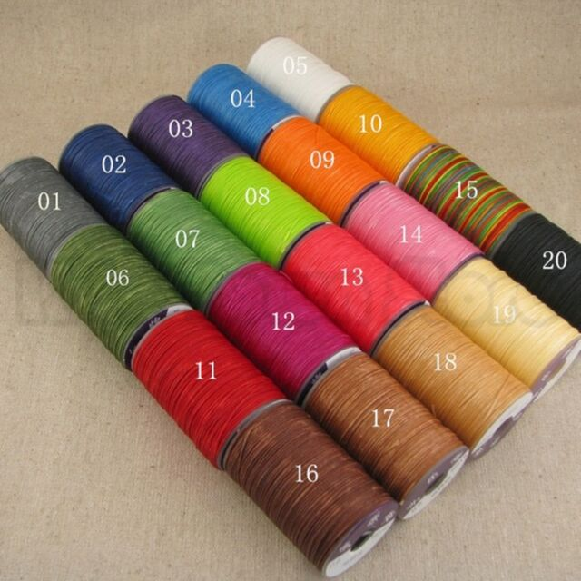 40M Leather Craft Tool Hand Stitching Flat Polyester Wax Line D0.8MM. USA!