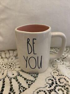 Rae-Dunn-by-Magenta-BE-YOU-Mug-W-Pink-Interior-Coffee-Tea-Mug-LL-Brand-New
