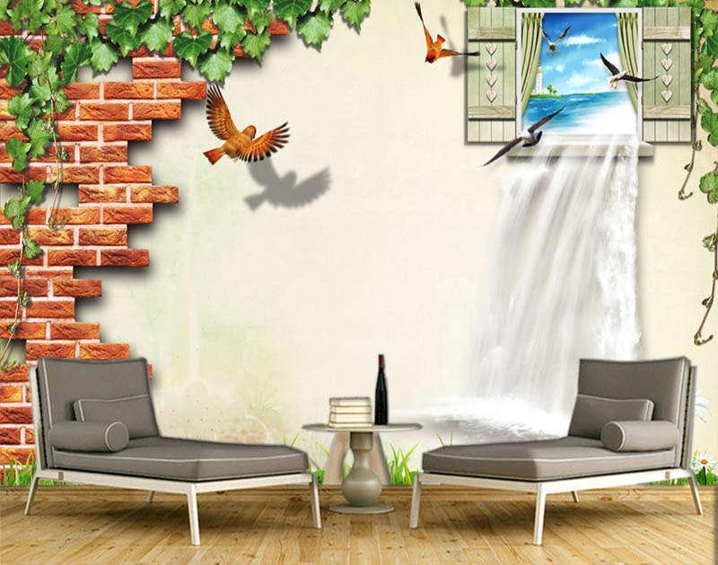 Original Cute Window 3D Full Wall Mural Photo Wallpaper Printing Home Kids Decor