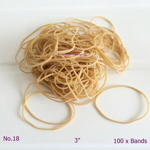 100-x-3-034-Long-80mm-x-1-5mm-First-Steps-Quality-Rubber-Elastic-Bands-No-18