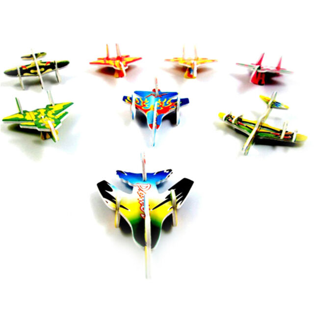 5X Paper Aircraft 3D Puzzles Jigsaw Model Toys For Kids DIY Craft FLA