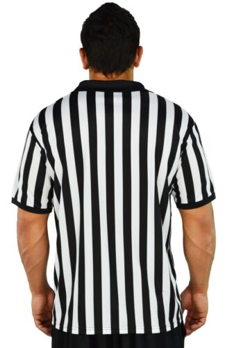Mens Referee Shirts//Umpire Jersey with Collar for Officiating Costumes More!
