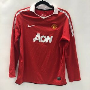a8d9e5d13 Image is loading NIKE-Manchester-United-Home-Long-Sleeve-Shirt-Youth-