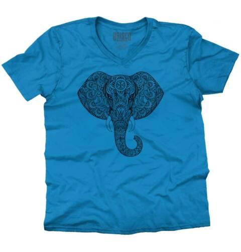Fashion Elephant Spirit Animal ShirtHindu Designer Lover V-Neck T Shirt
