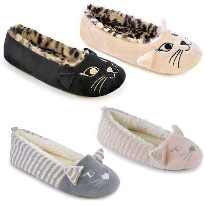 Kitten Slippers Girls Novelty Cat