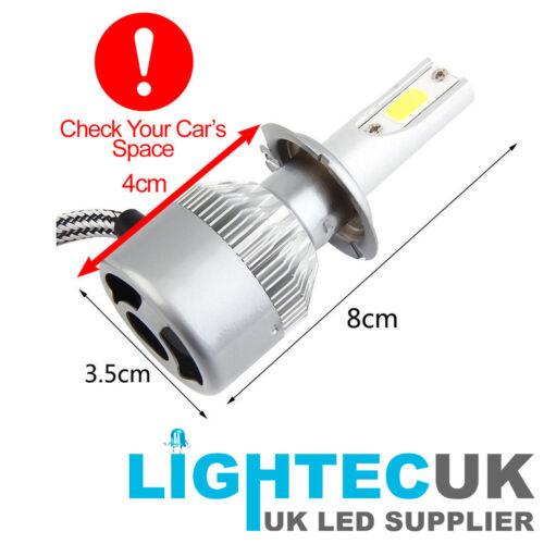 2 Pcs H7 200W 20000LM COB Car LED Headlight Bulbs Conversion Kit UK Stocks Hot
