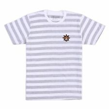 Chief Keef Glo Gang Cup Stripe Patch T-Shirt Small (Heather grey/white stripes)
