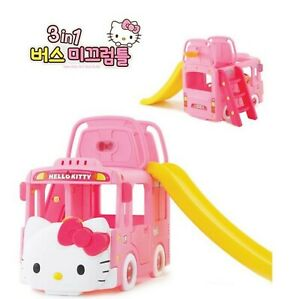 Remarkable Details About Hello Kitty 3 In 1 Bus Climb Slide Kids Melody Light Door Saddle Indoor Outdoor Machost Co Dining Chair Design Ideas Machostcouk